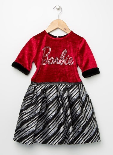 Barbie Elbise Bordo